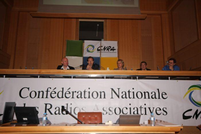 A la tribune de la CNRA à Montpellier