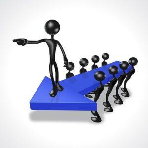 Le leader montre la direction